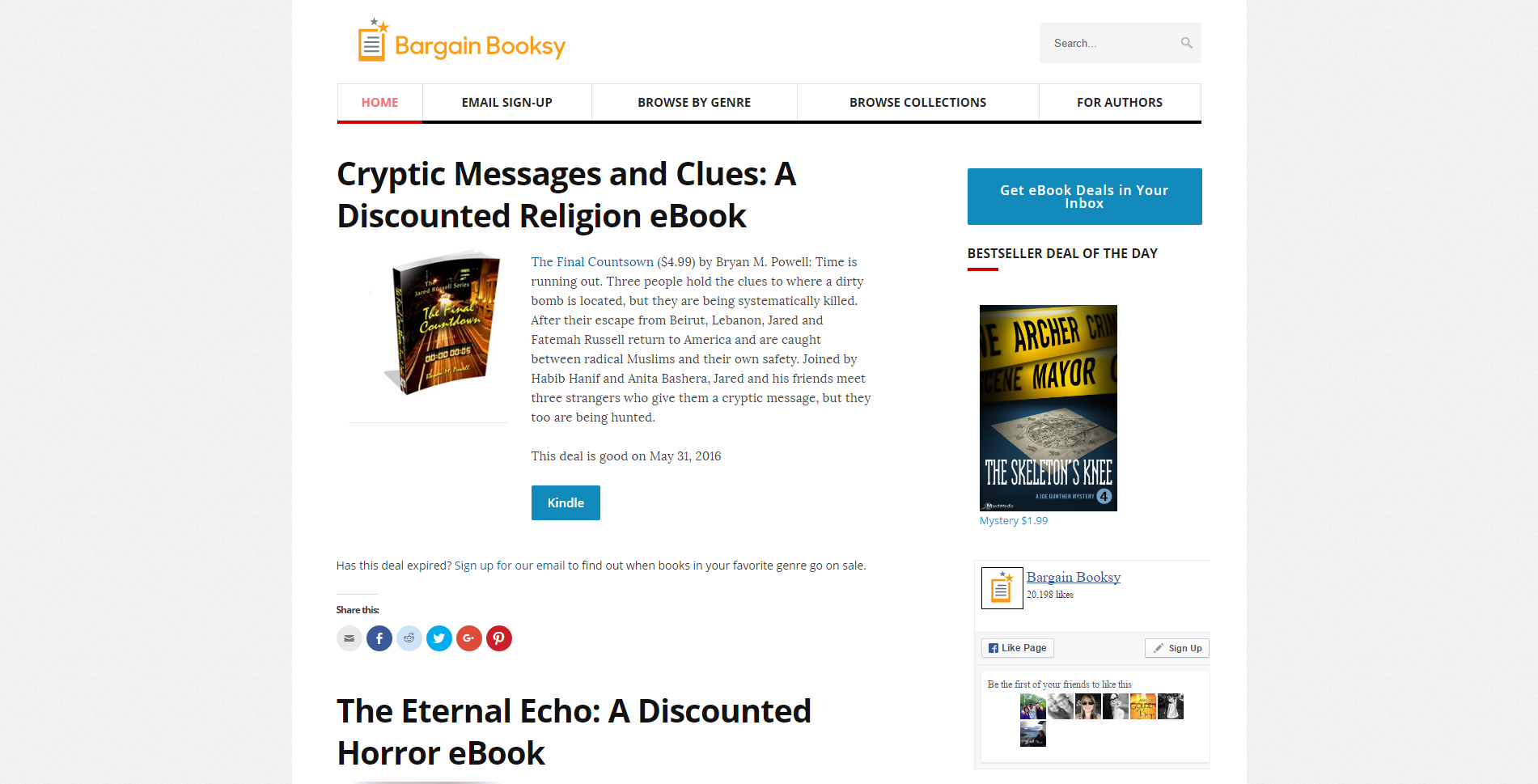 What to Read Next   Bargain Booksy Homepage