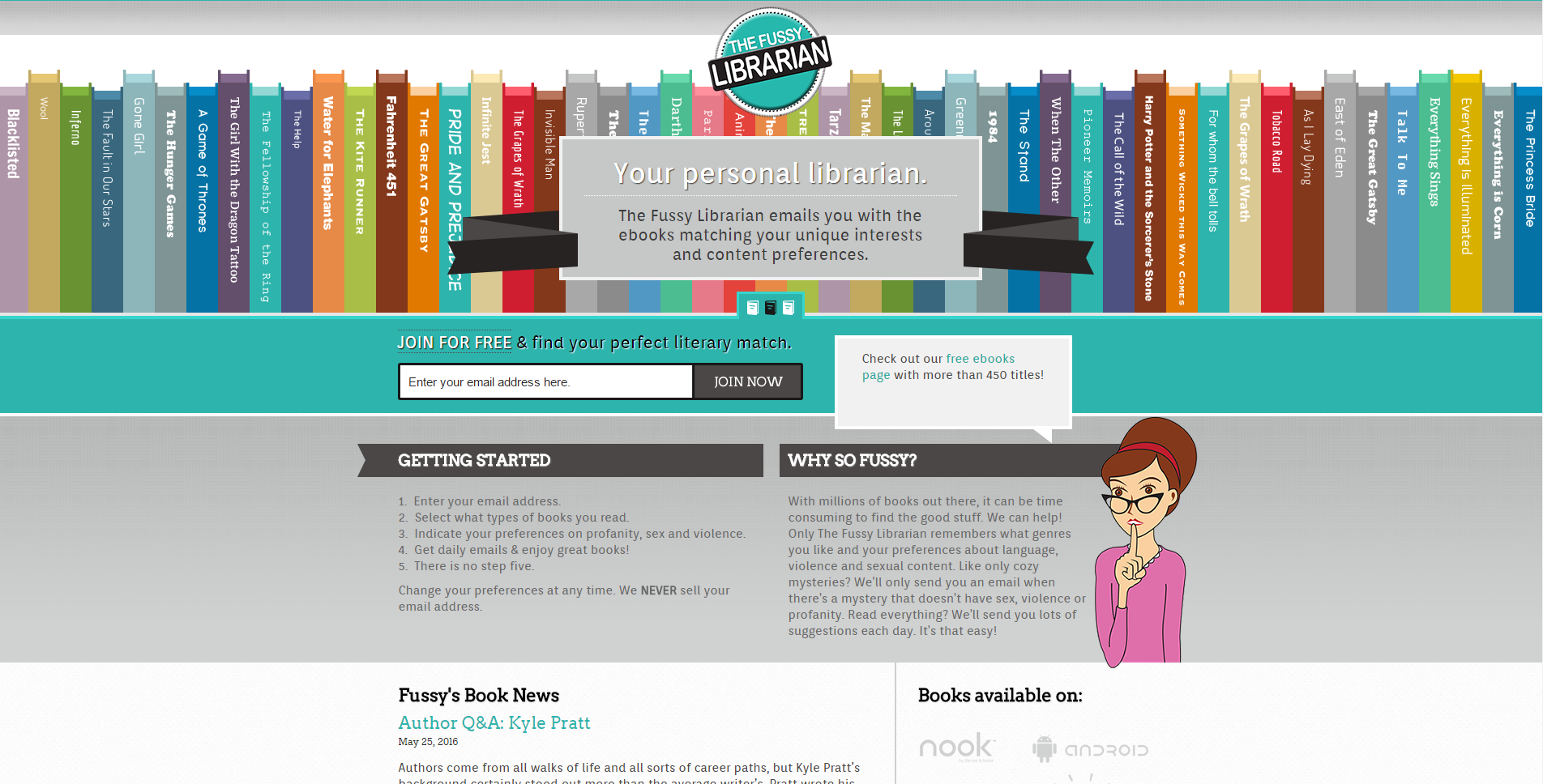What to Read Next   The Fussy Librarian Homepage
