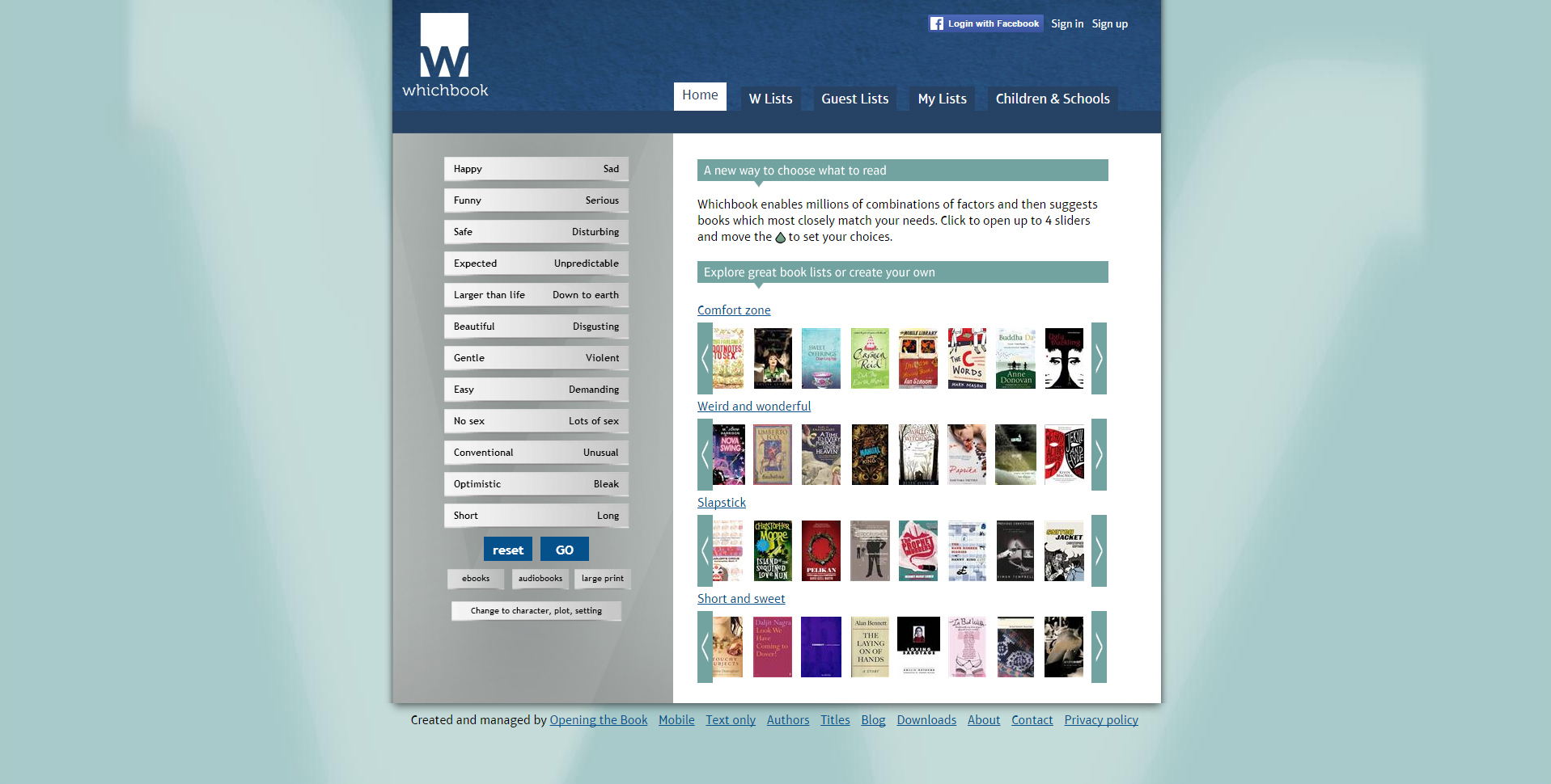 What to Read Next   Whichbook Homepage